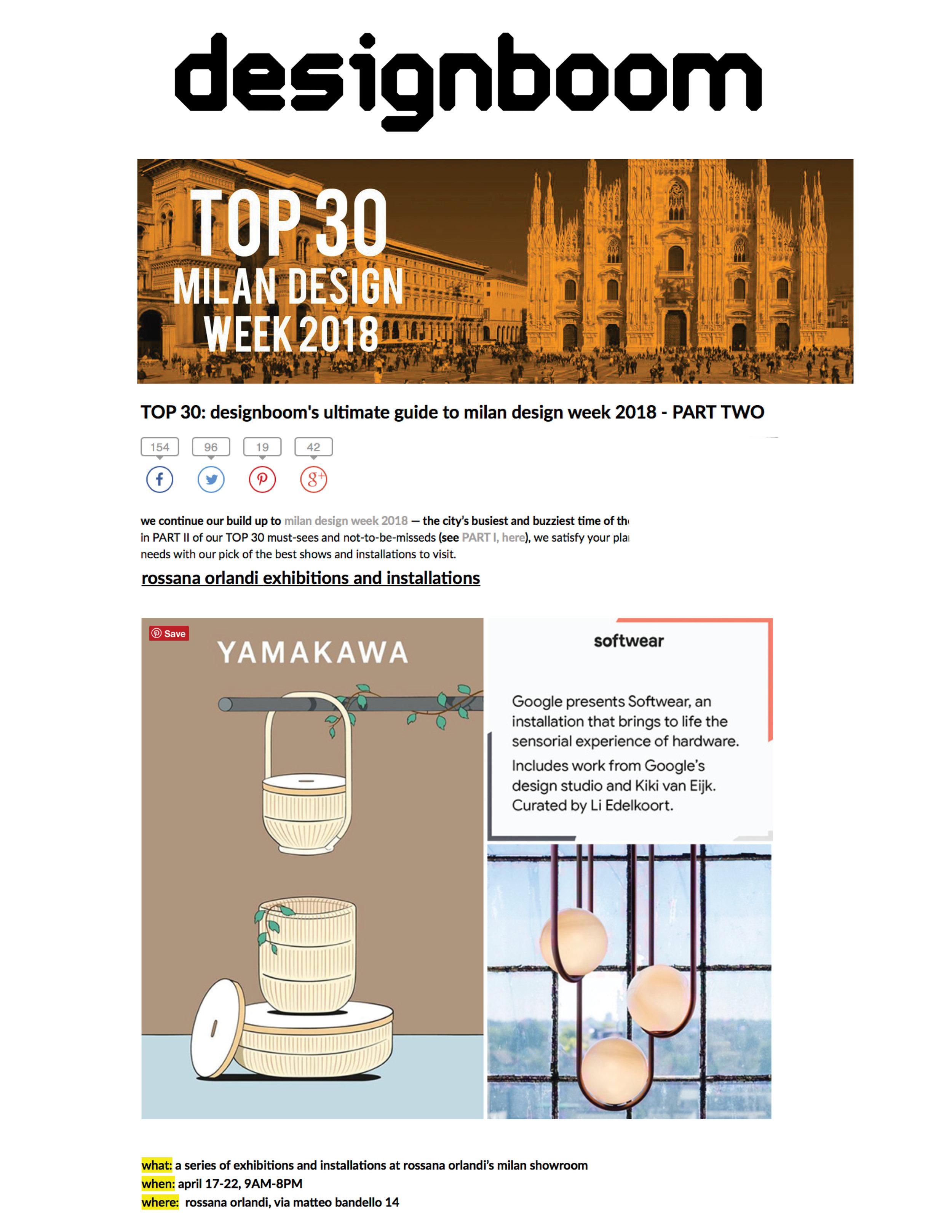 Designboom Milan Guide 2018