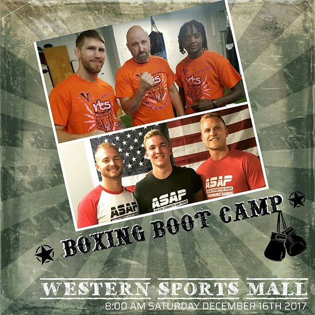 Victory Through Sacrifice is partnering with @asapcincinnati to hold a Boxing Boot Camp at the Western Sports Mall.  Join us Dec 16th @ 8am to experience an action-packed hour of resistance training and cardio kickboxing. Cost for the event is a $5 donation that will benefit the Western Sports Mall Renovation Program. Hope to see you there!