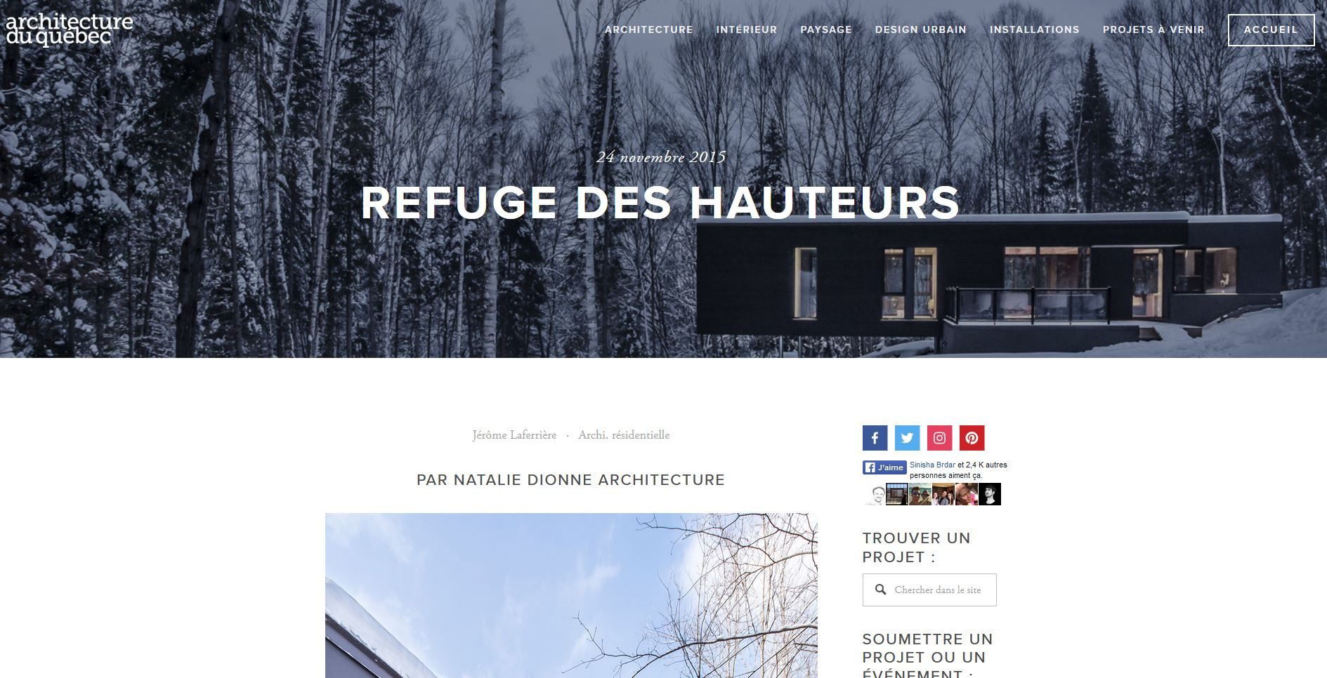 Architecture du Québec
