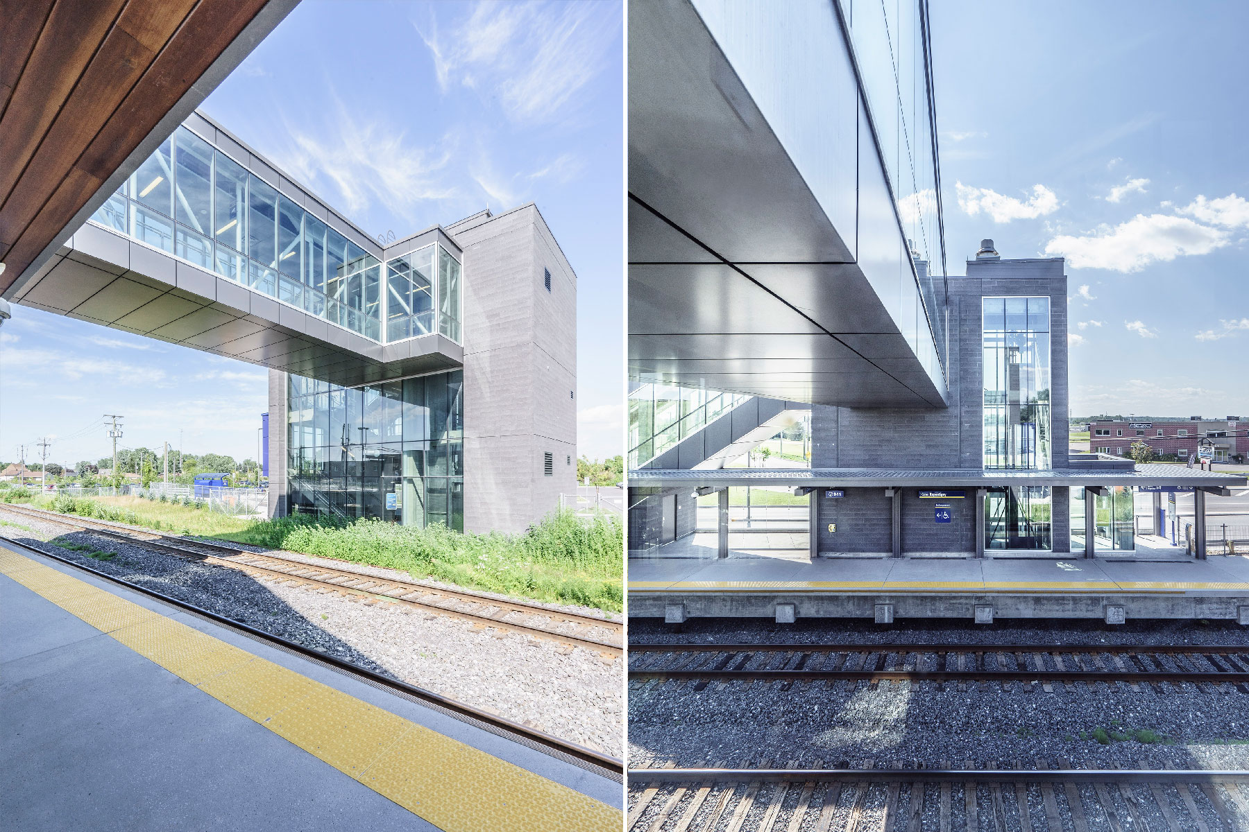 Gares du train de l'est - AMT /  GCBD Architectes
