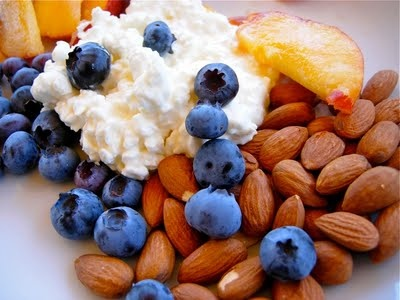 cottage cheese almonds