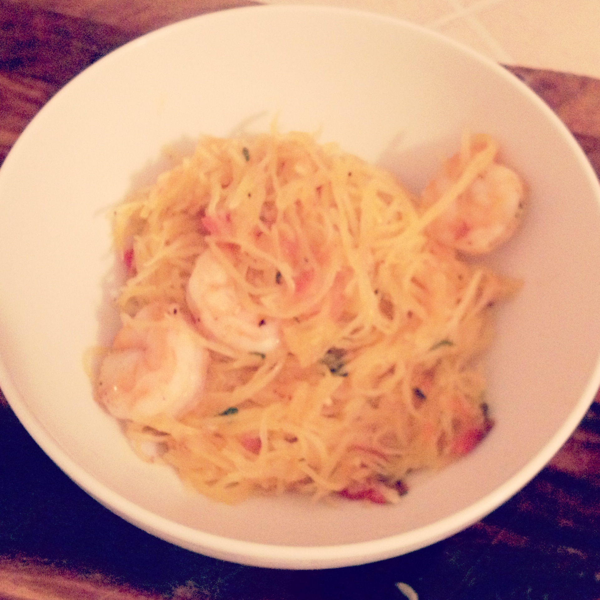 shrimp spaghetti squash