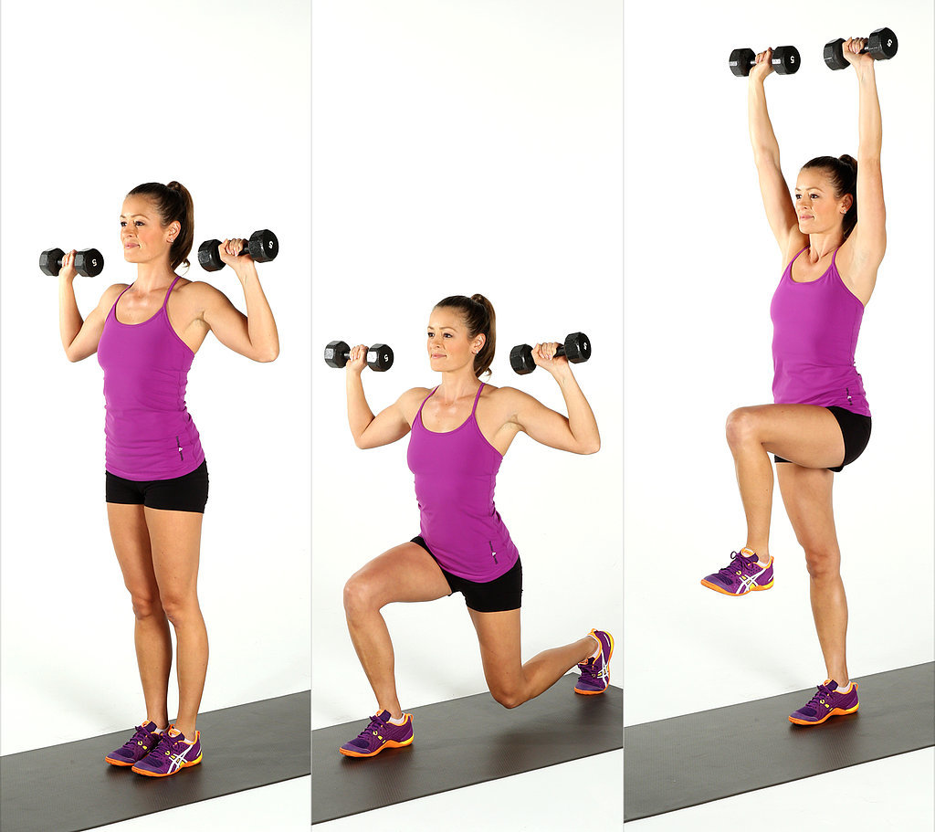 Reverse-Lunge-Press