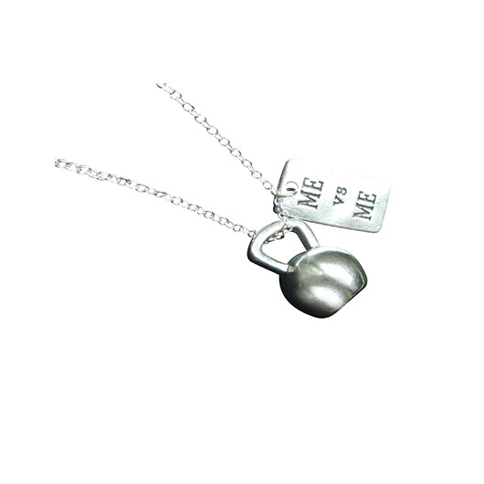 me vs. me kettlebell necklace