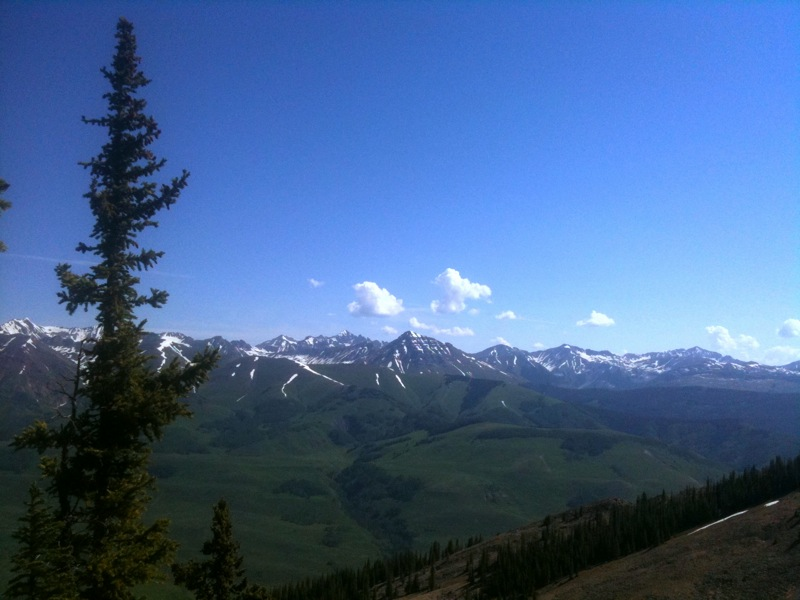The view above Crested Butte, Colorado.
