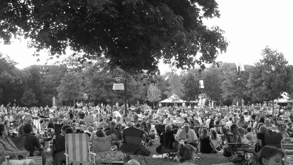 Photo by r  egan76  , available under a   Creative Commons Attribution   2.0 Generic License  .    Ravinia, where Bud Herseth performed for millions of people over the course of his career with the Chicago Symphony Orchestra.