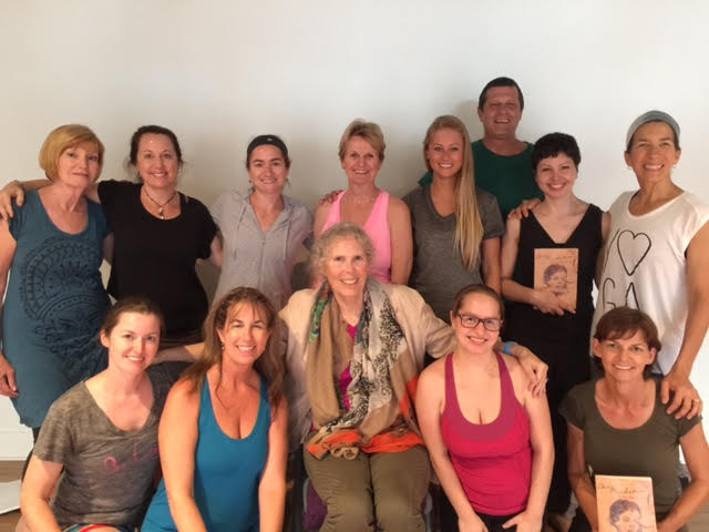 2015 200-Hour Yoga Training Graduates with Dr. Prudence Farrow Bruns
