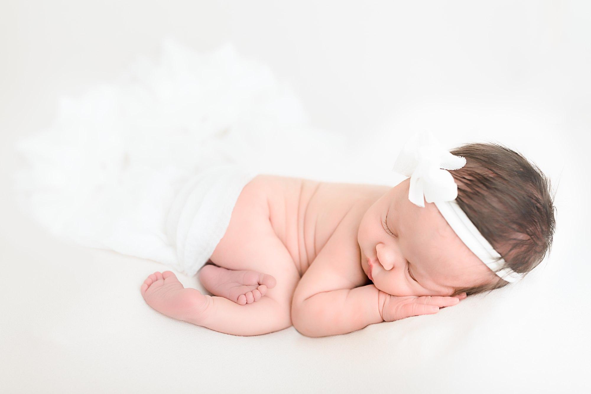 Allentown Newborn Photographer White Headband