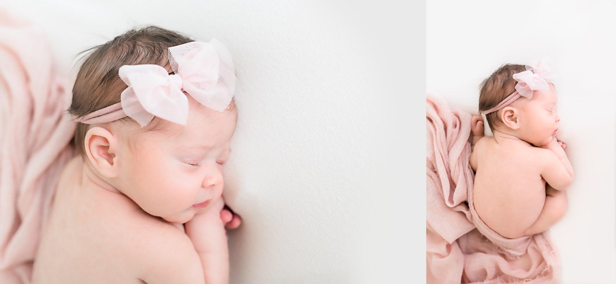 Lehigh Valley Newborn Photographer Girl in Pink