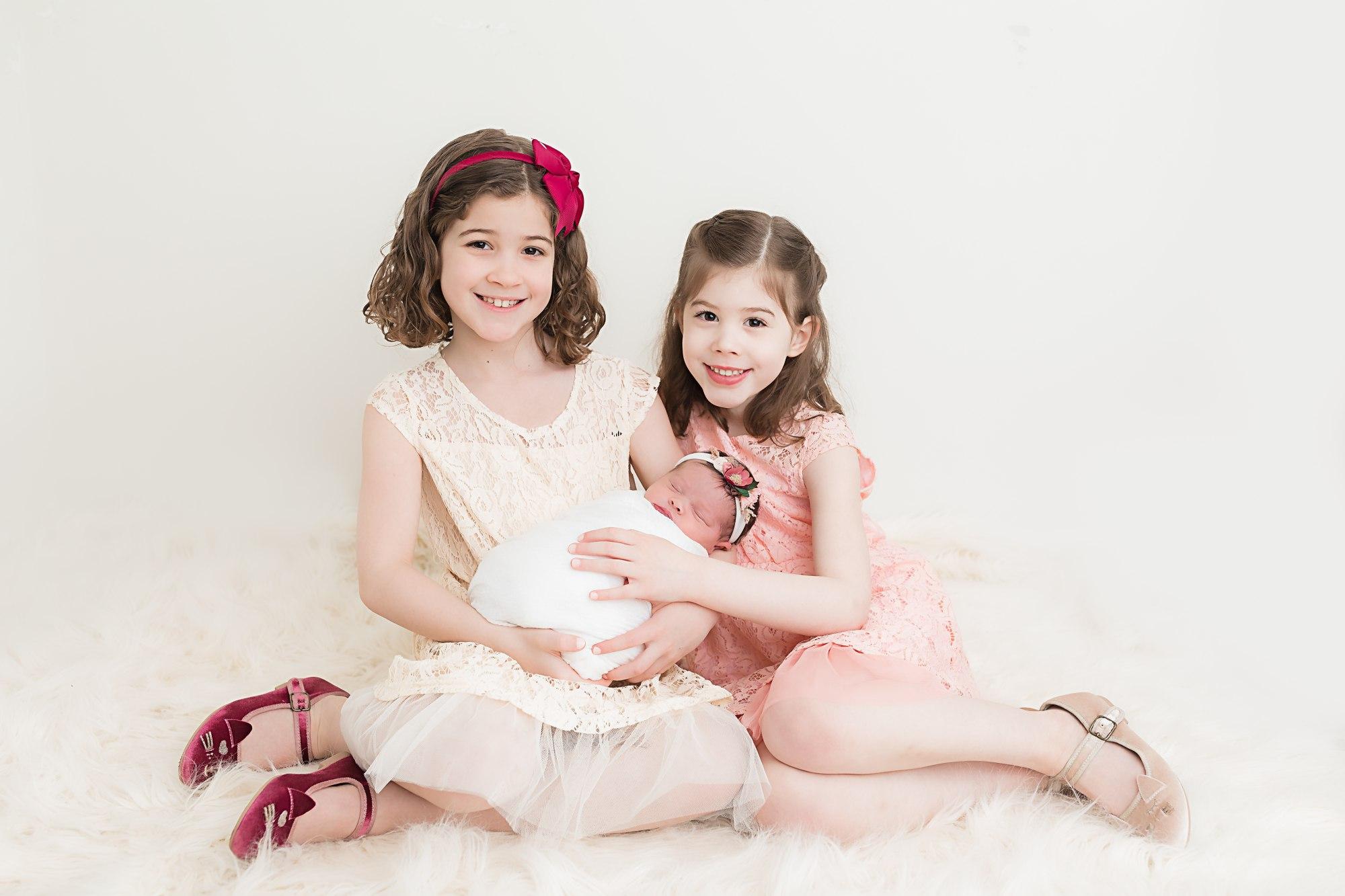 Proud Big Sisters Lehigh Valley Newborn Photographer