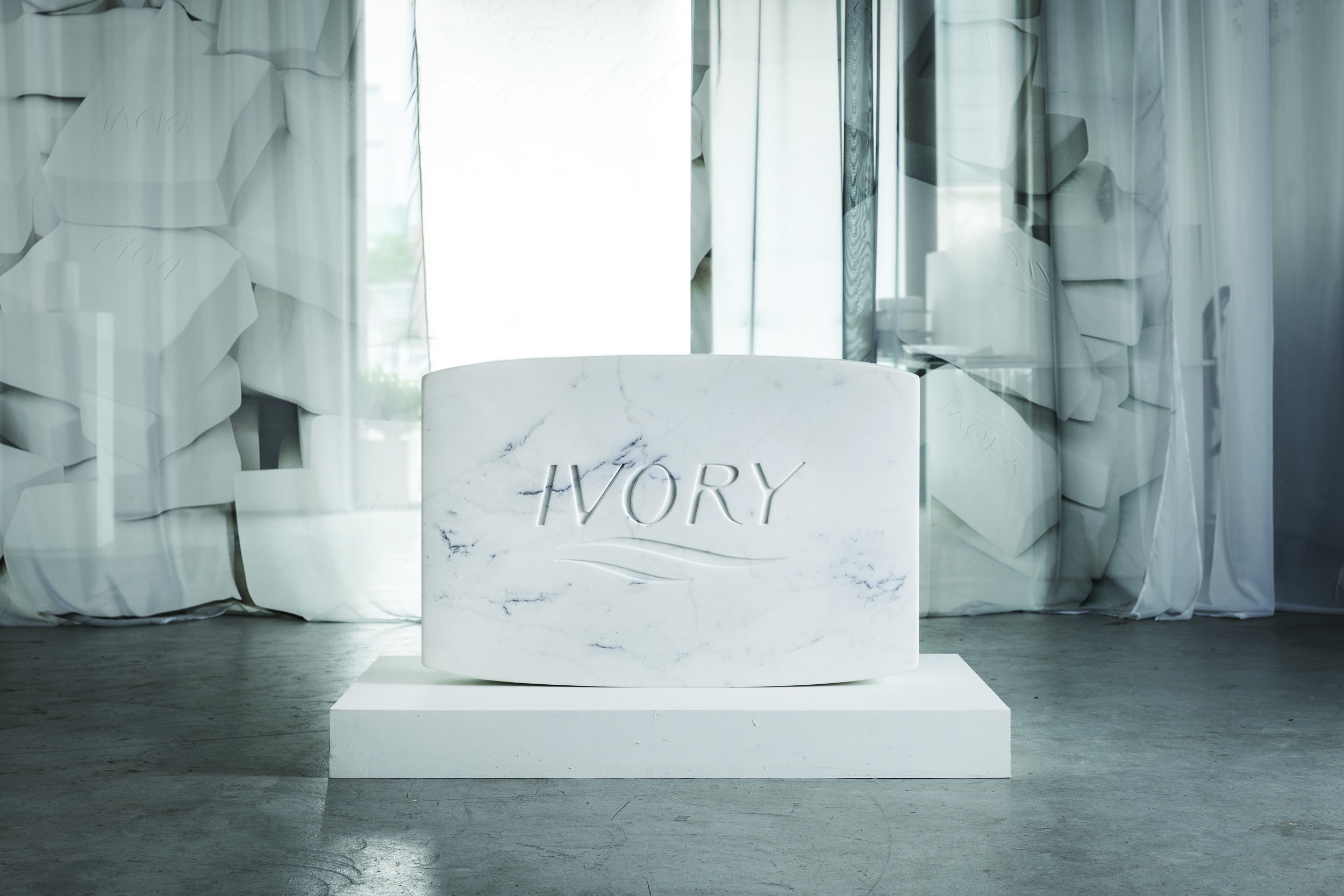 PURE Marble Jumbo , 2018  Solid Carrara marble  50 x 30 x 21 inches