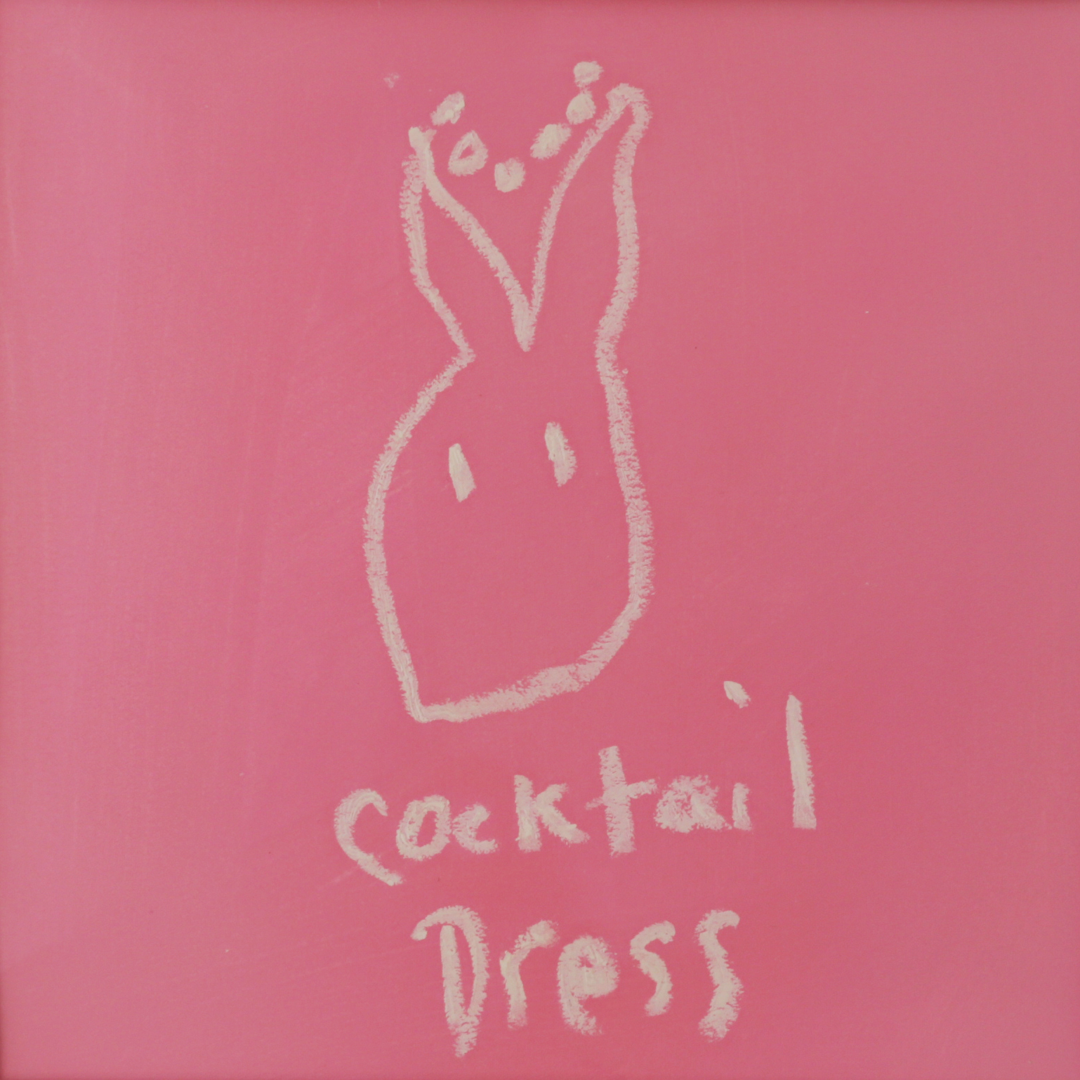 Cocktail Dress , 2018  Gouache and oil pastel on paper  16 x 16 inches