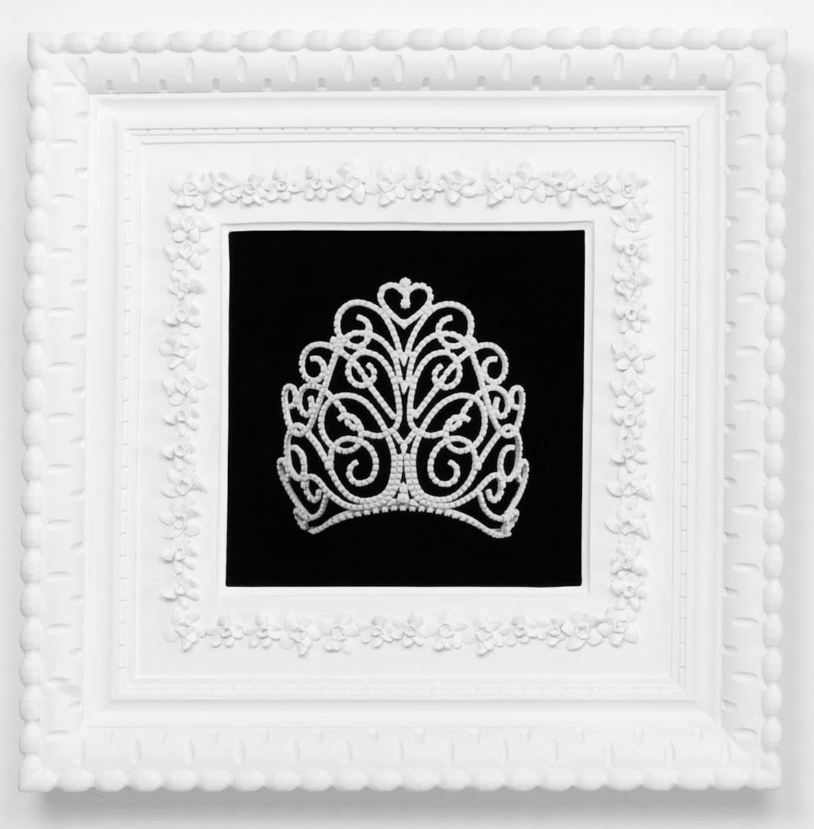 Small Dream Crown #8,  2009  Photograph in archival ink on watercolor paper, in artist's  Royal Narcissus Icing  frame  24 x 24 inches