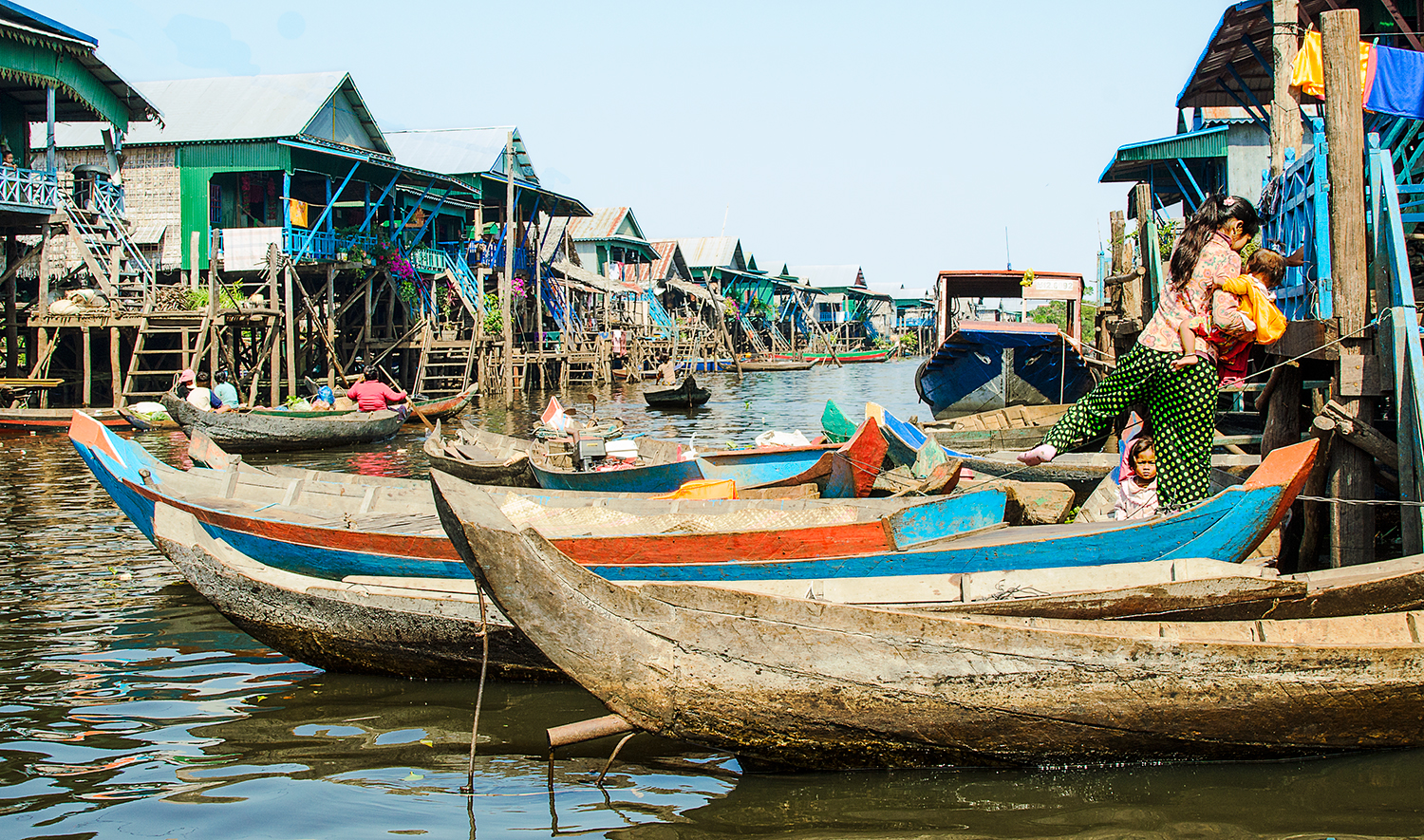 Village on stilts, Tonle Sap Lake, Cambodia
