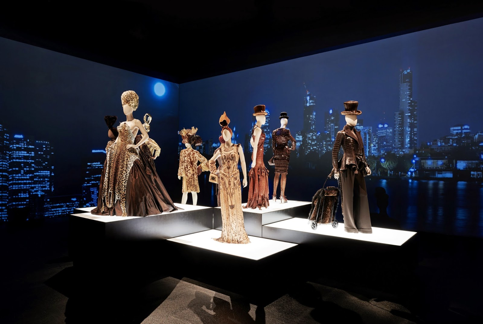 The Fashion World of Jean Paul Gaultier, installation image provided by NGV