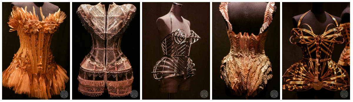 Black Swan collection corsets-Photo by www.culturalchromatics.com Thefirst one had wheat woven into it.