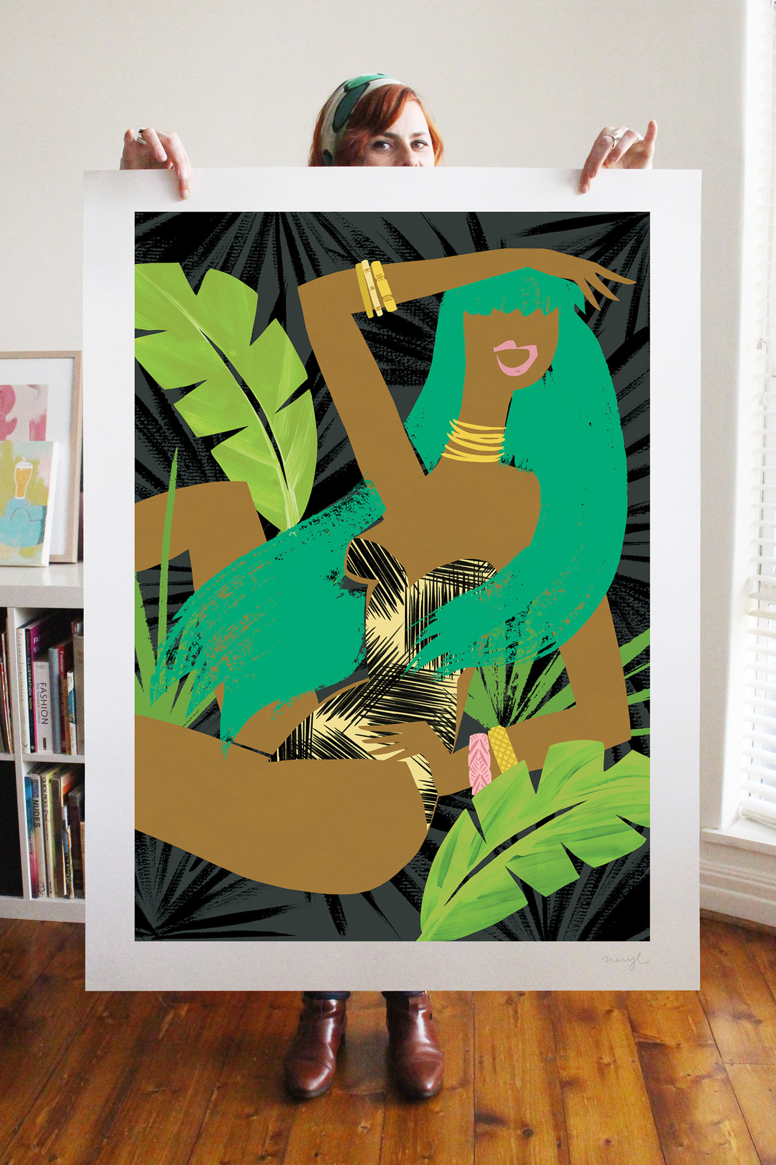 A0 Jungle Room print