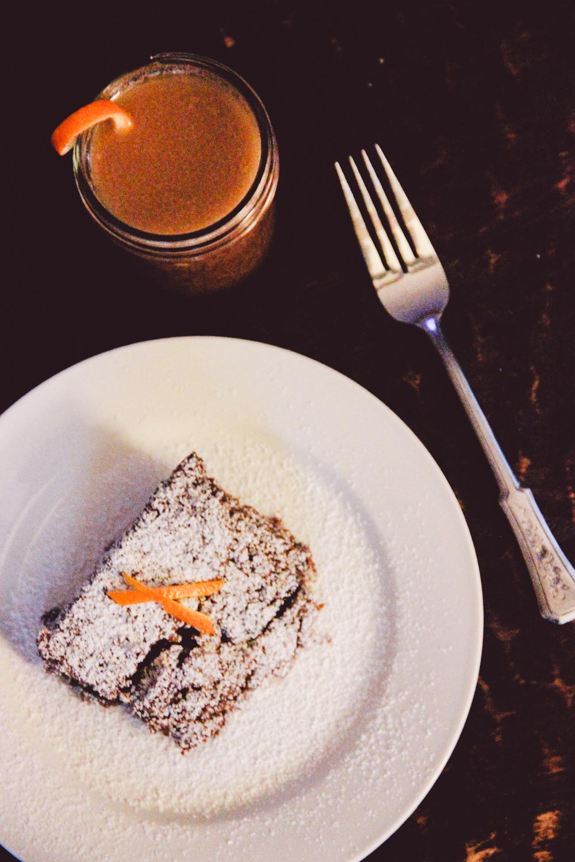 Dark Rum Fruitcake and Hot Buttered Rum