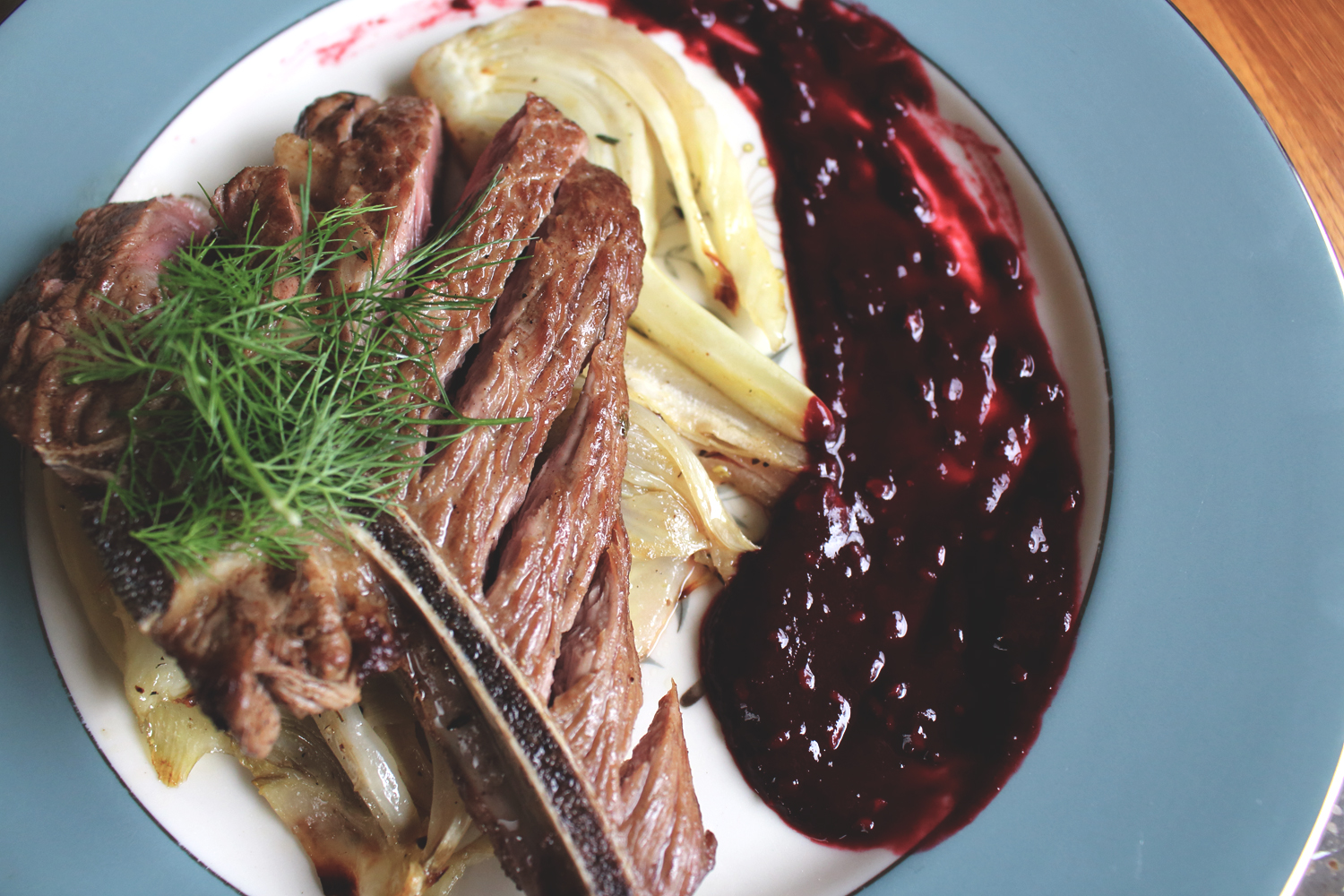 Lamb with Roasted Fennel