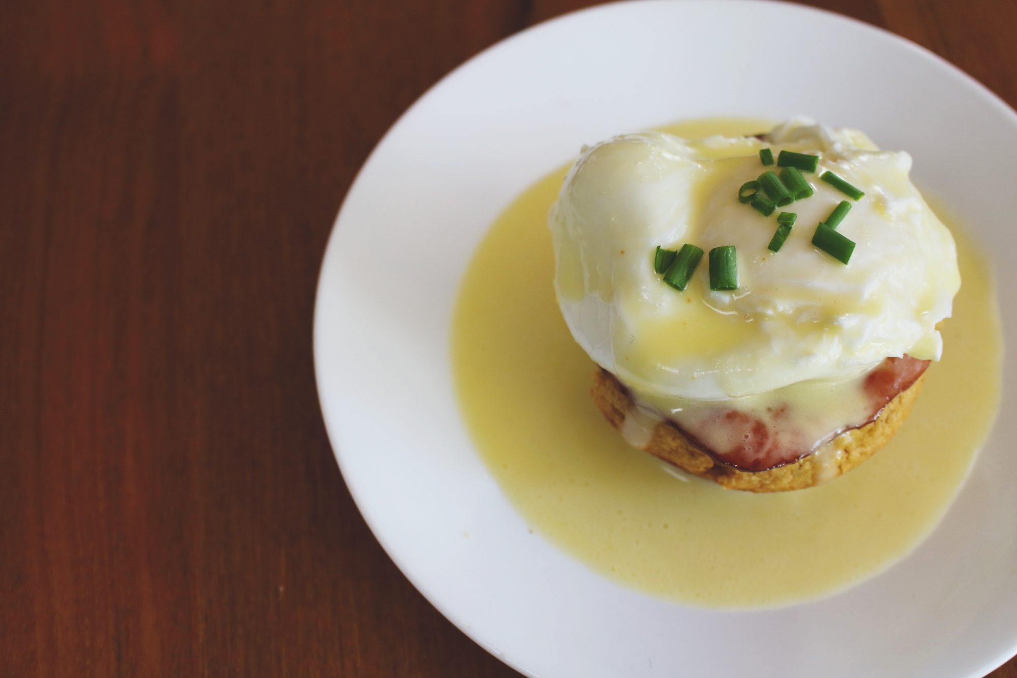 Corn Bread Eggs Benedict