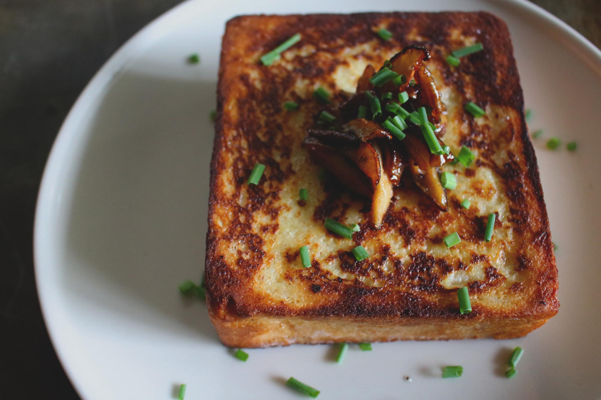 Shiitake Mushroom Stuffed French Toast