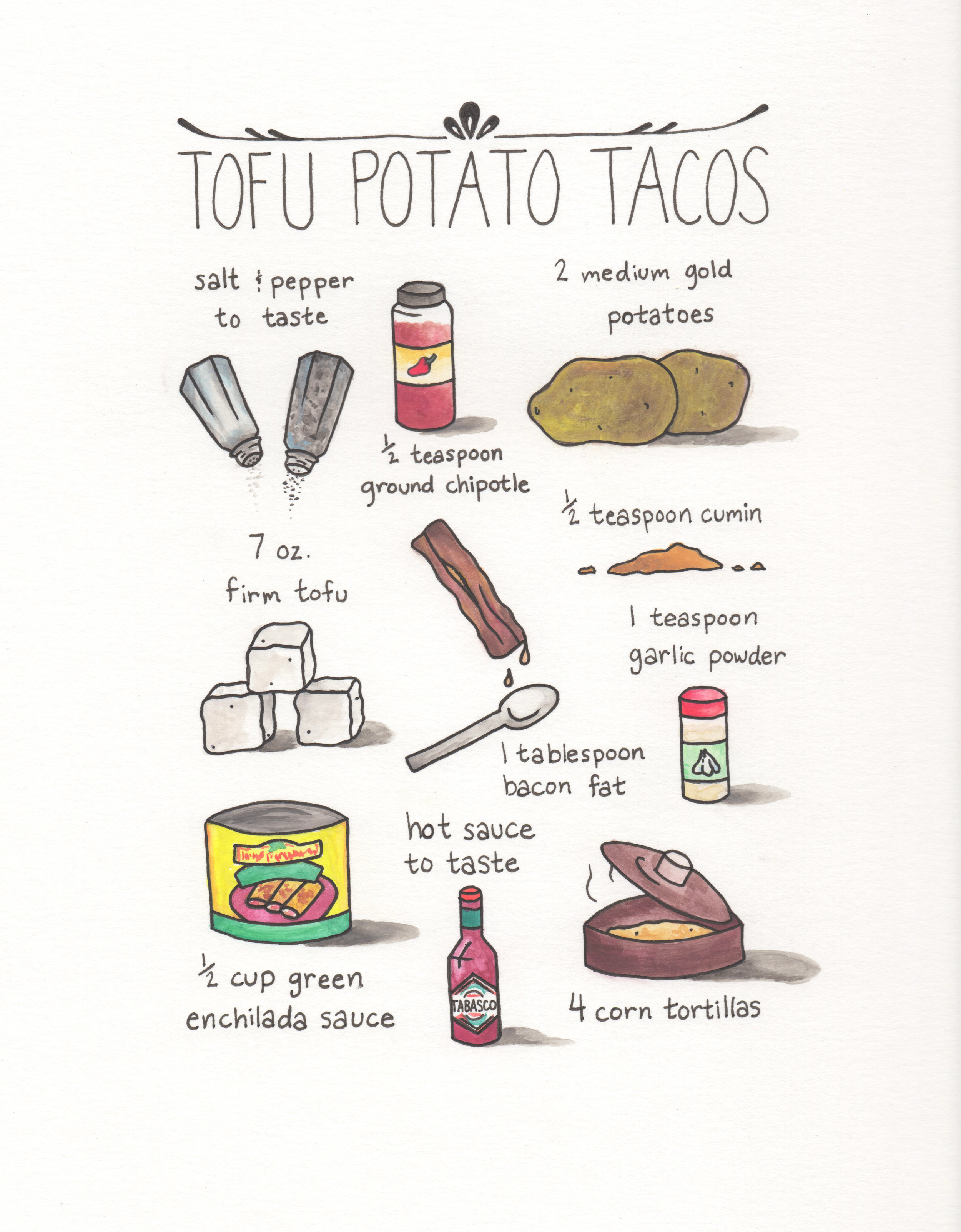 Tofu Potato Tacos