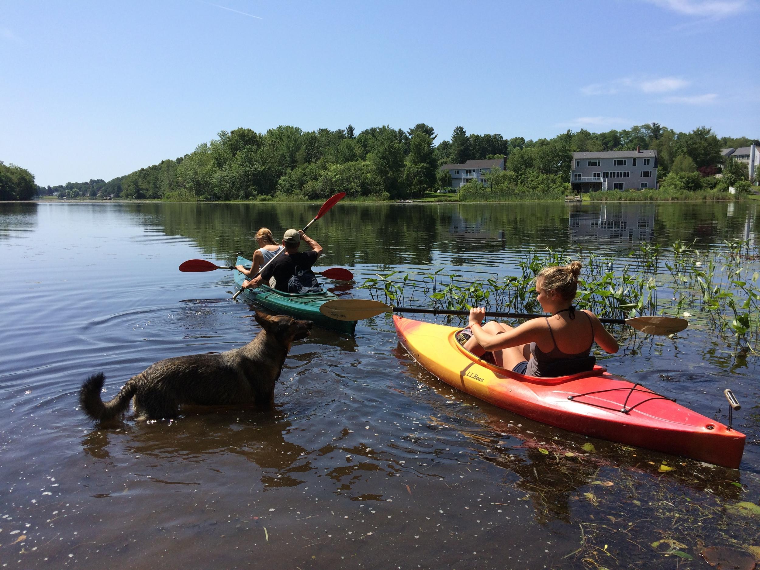 Kayaking from Camp Kent