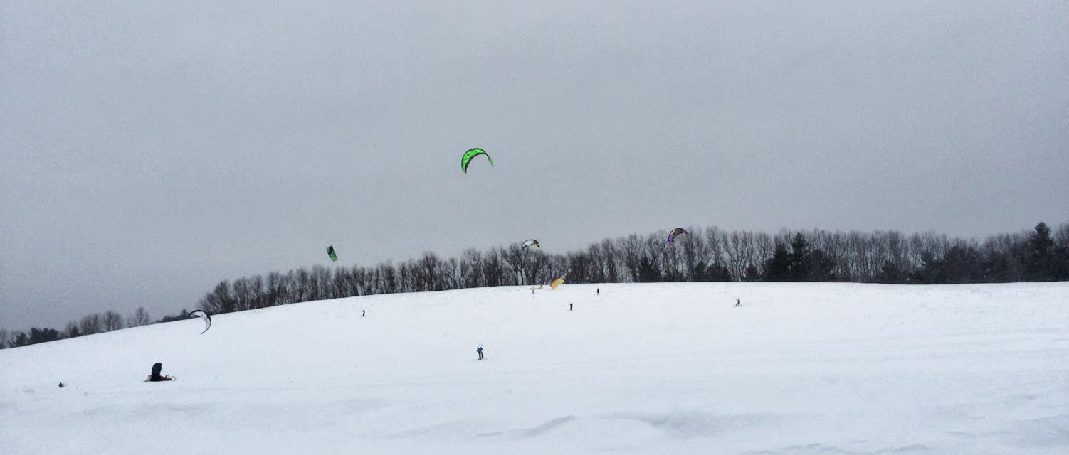Kite Boarding at Woodsom