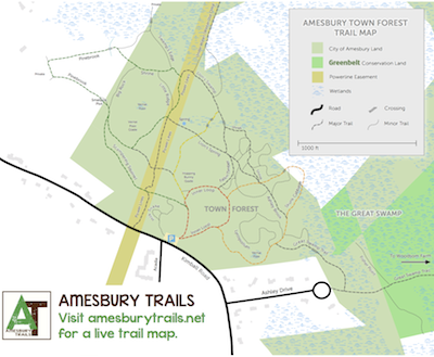 Town Forest Trail Map