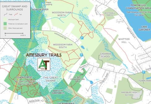 Great Swamp Trail Map Showing Boardwalk