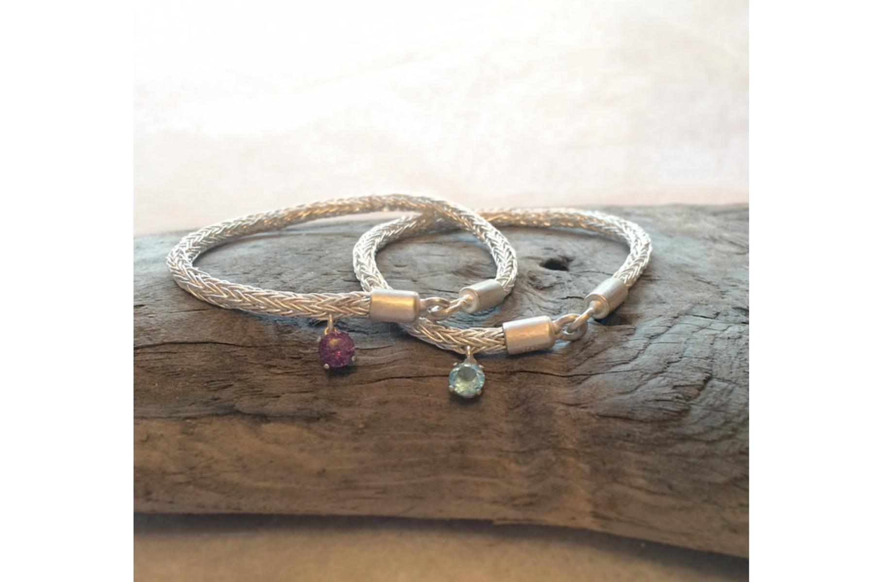 Twin Silver Woven Bracelets