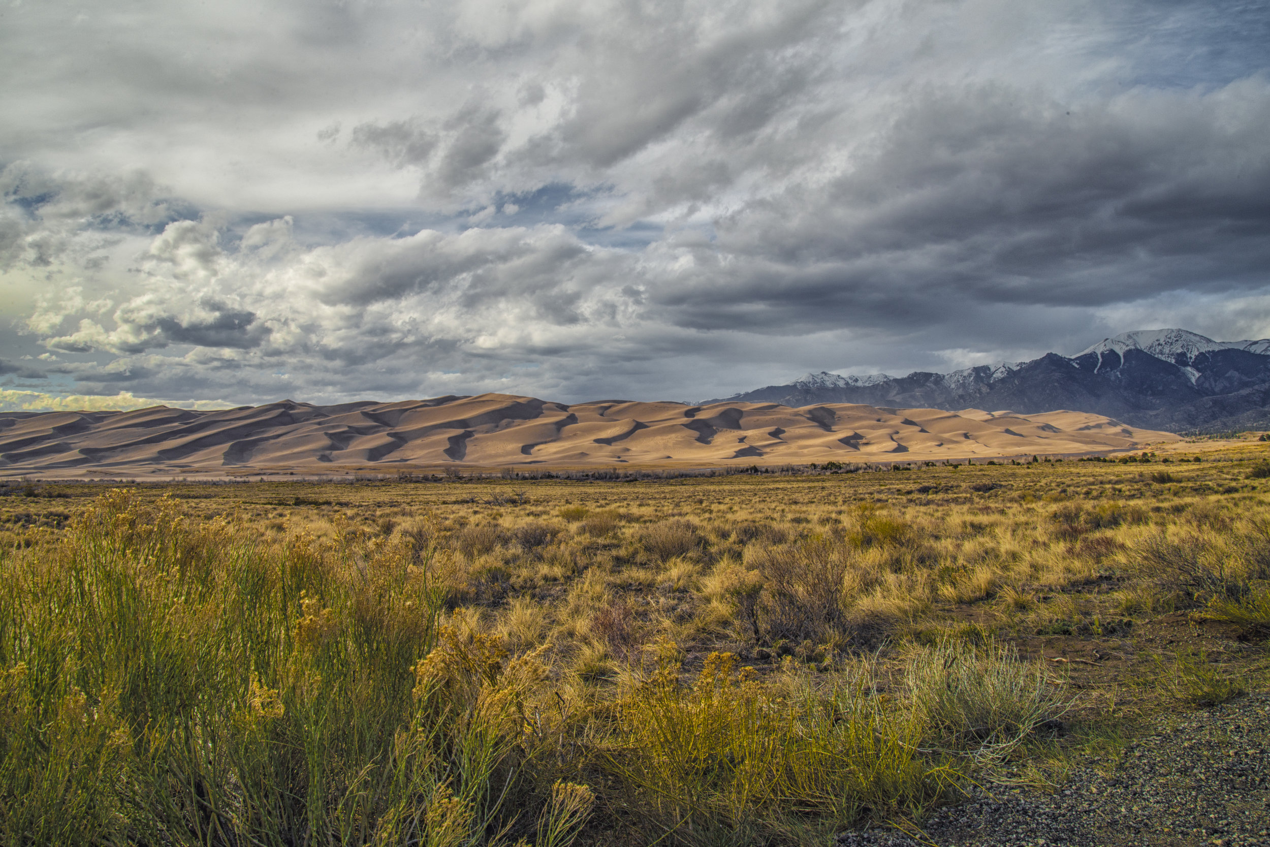 Dunes by the Mountains
