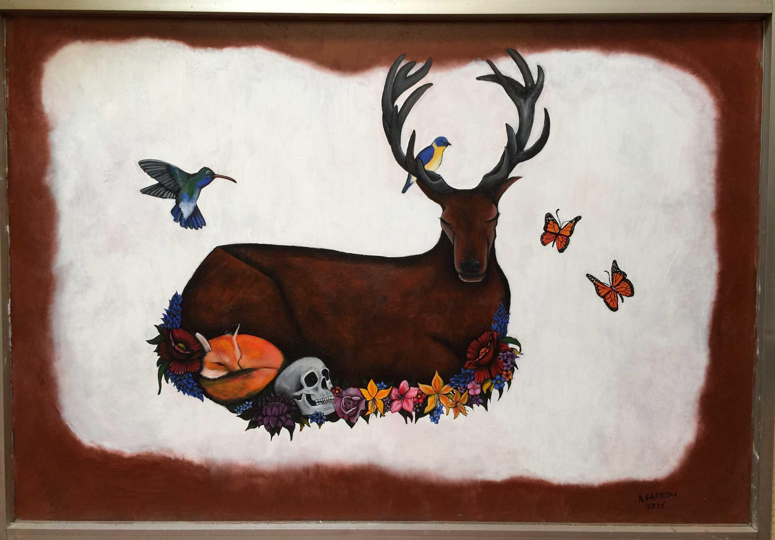 deer-painting-mural-allans-walk-bendigo