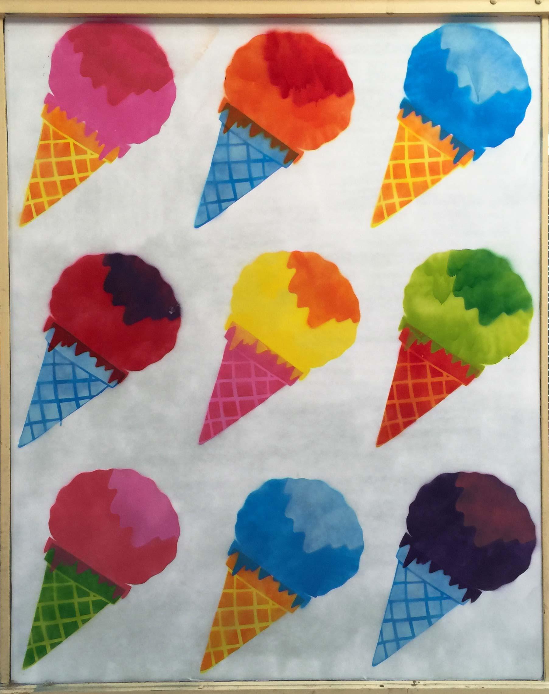 ice-cream-allans-walk-bendigo-mural-stencil