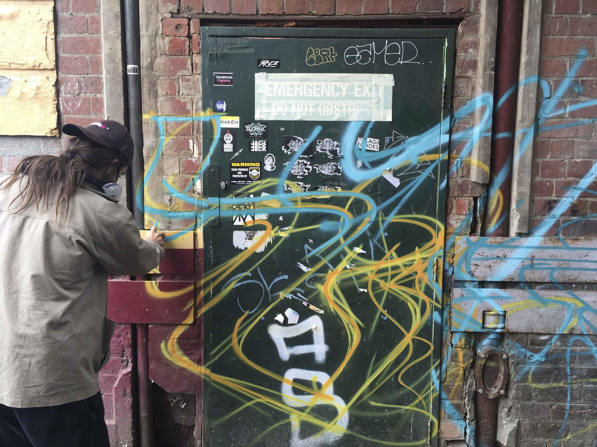Aerosol Control Bendigo Graffiti Mural at Music Man