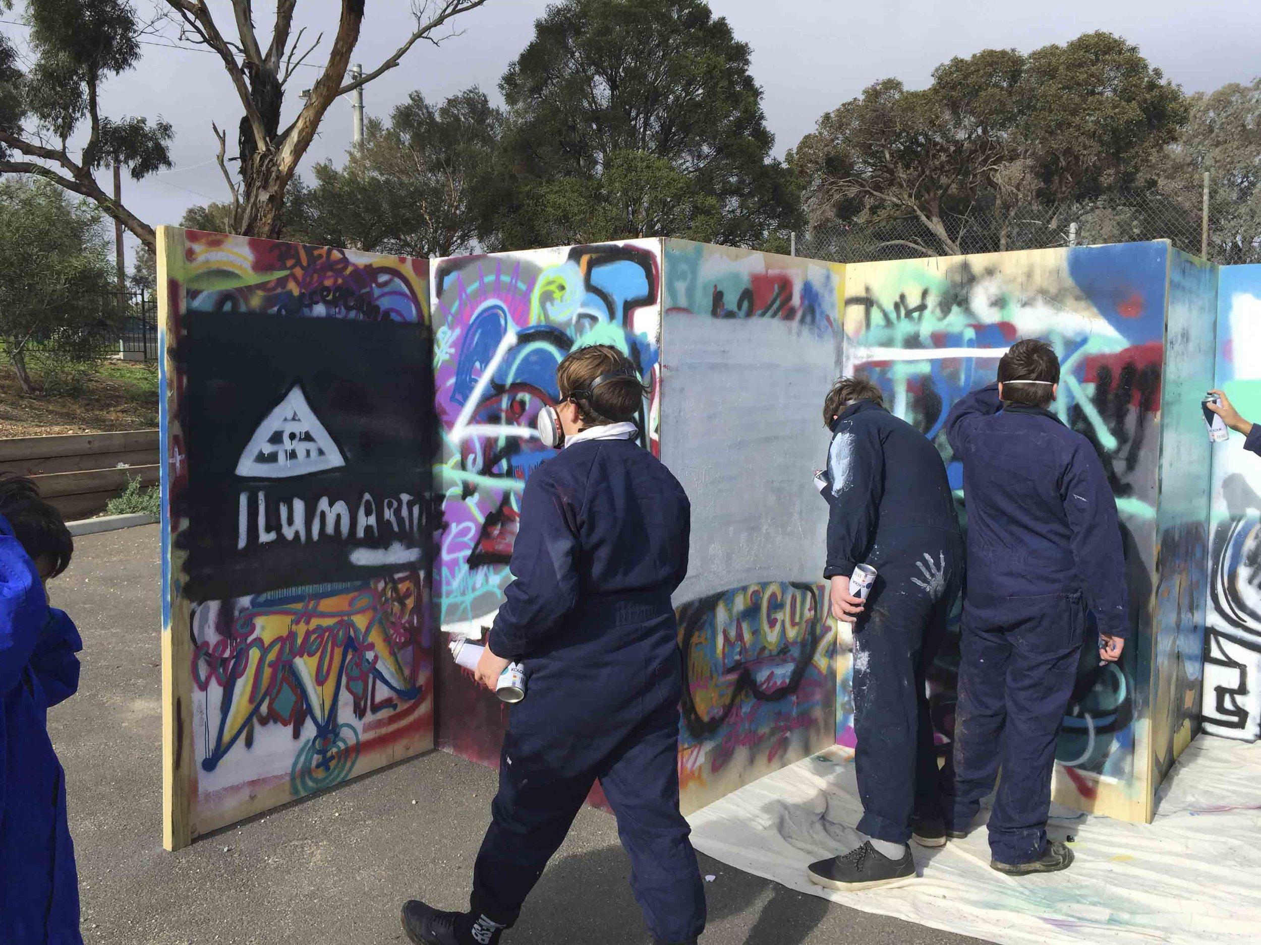 Aerosol Control Graffiti Workshop Weeroona College Bendigo