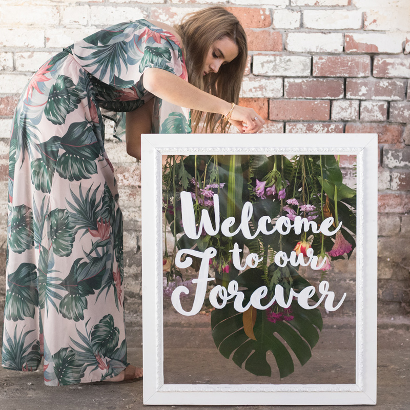 wedding-welcome-sign-melbourne-bendigo-welcome-to-our-forever