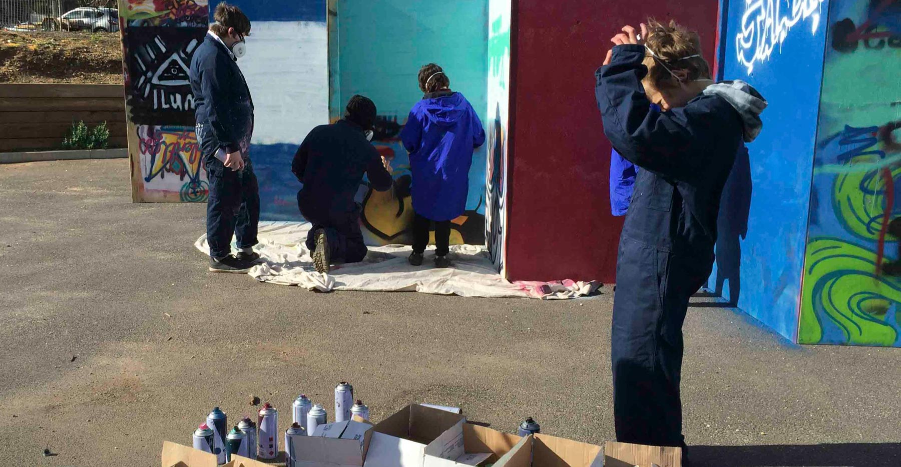 The Graffiti workshop at Weeroona College was a great way to connect with students around their mental health and wellbeing and educate them on graffiti law.