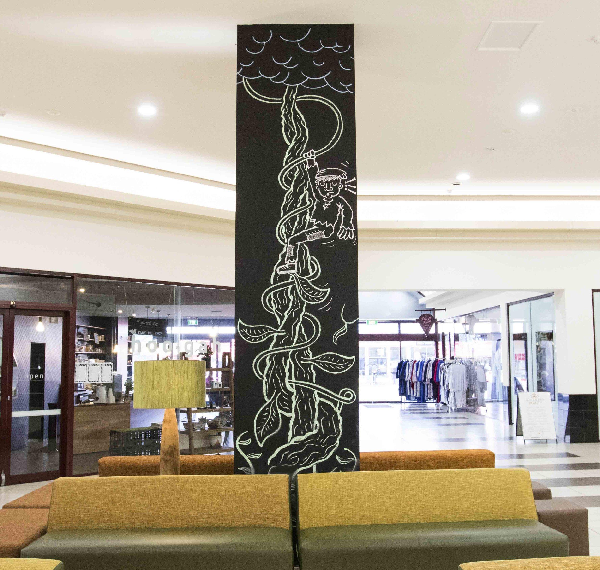 Bendigo-Chalk-Mural-art