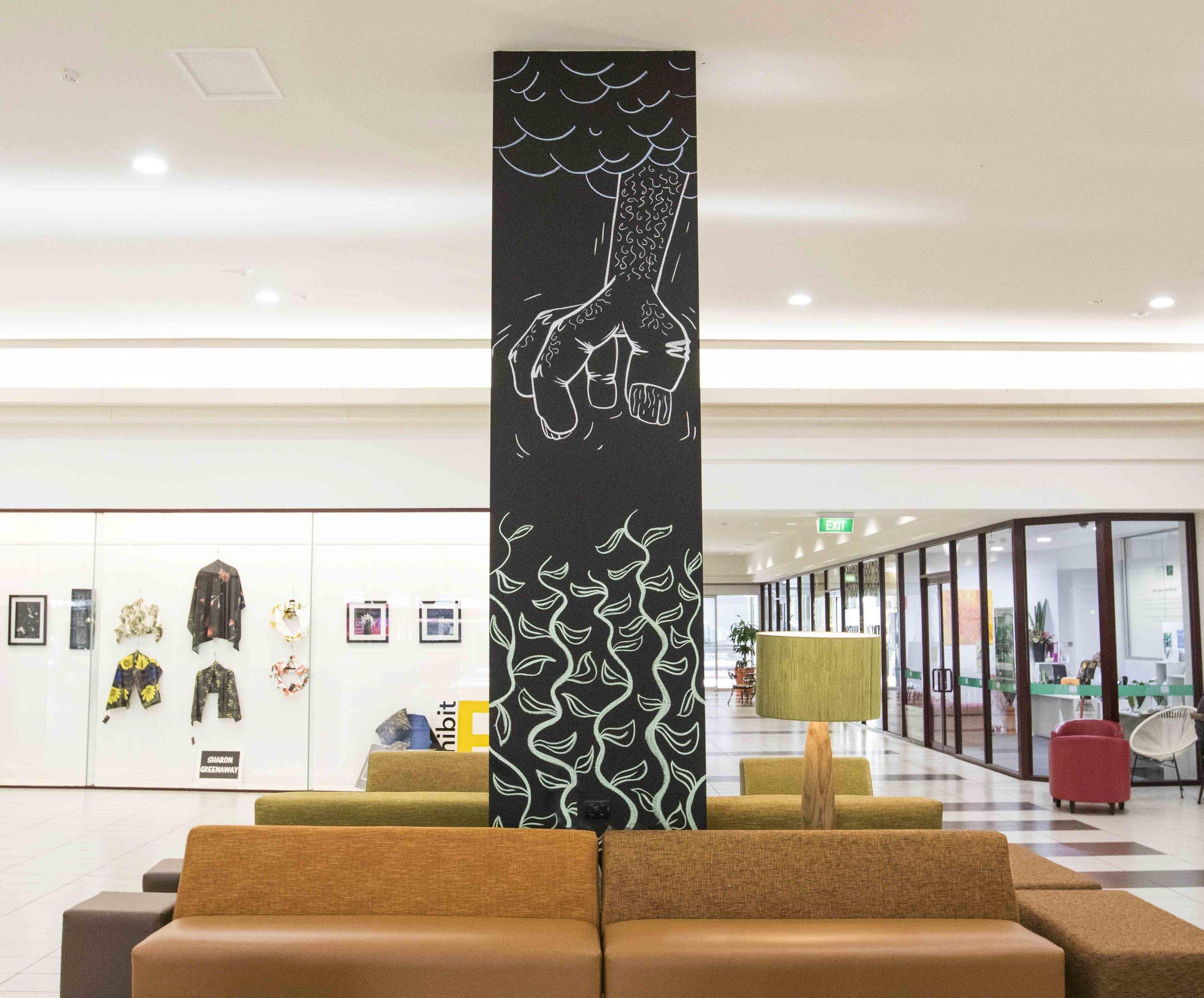 Bendigo-Bank-Chalk-Mural-artists