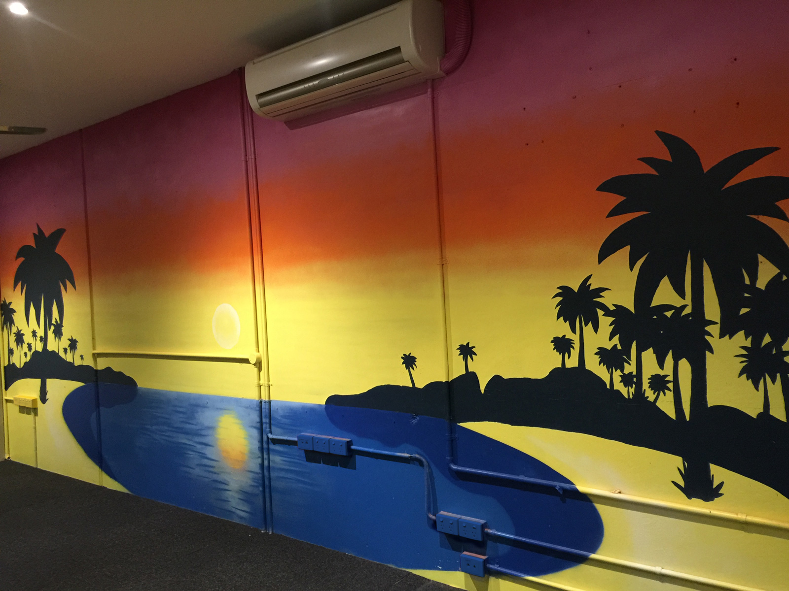 Sunset-beach-mural-in-office-space-melbourne.jpg