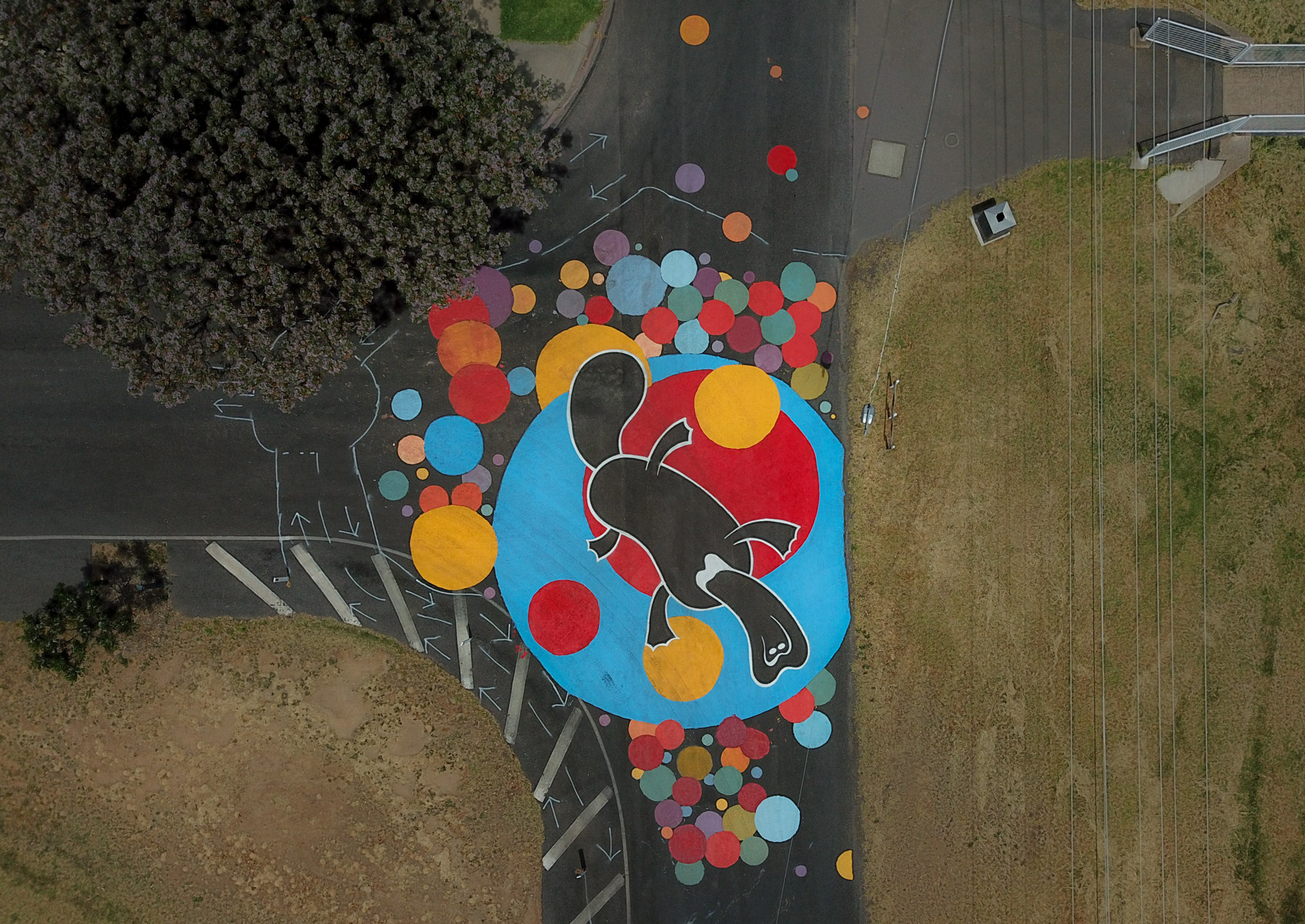 intersection-road-painting-mural-cycling-safe-bendigo-victoria-australia