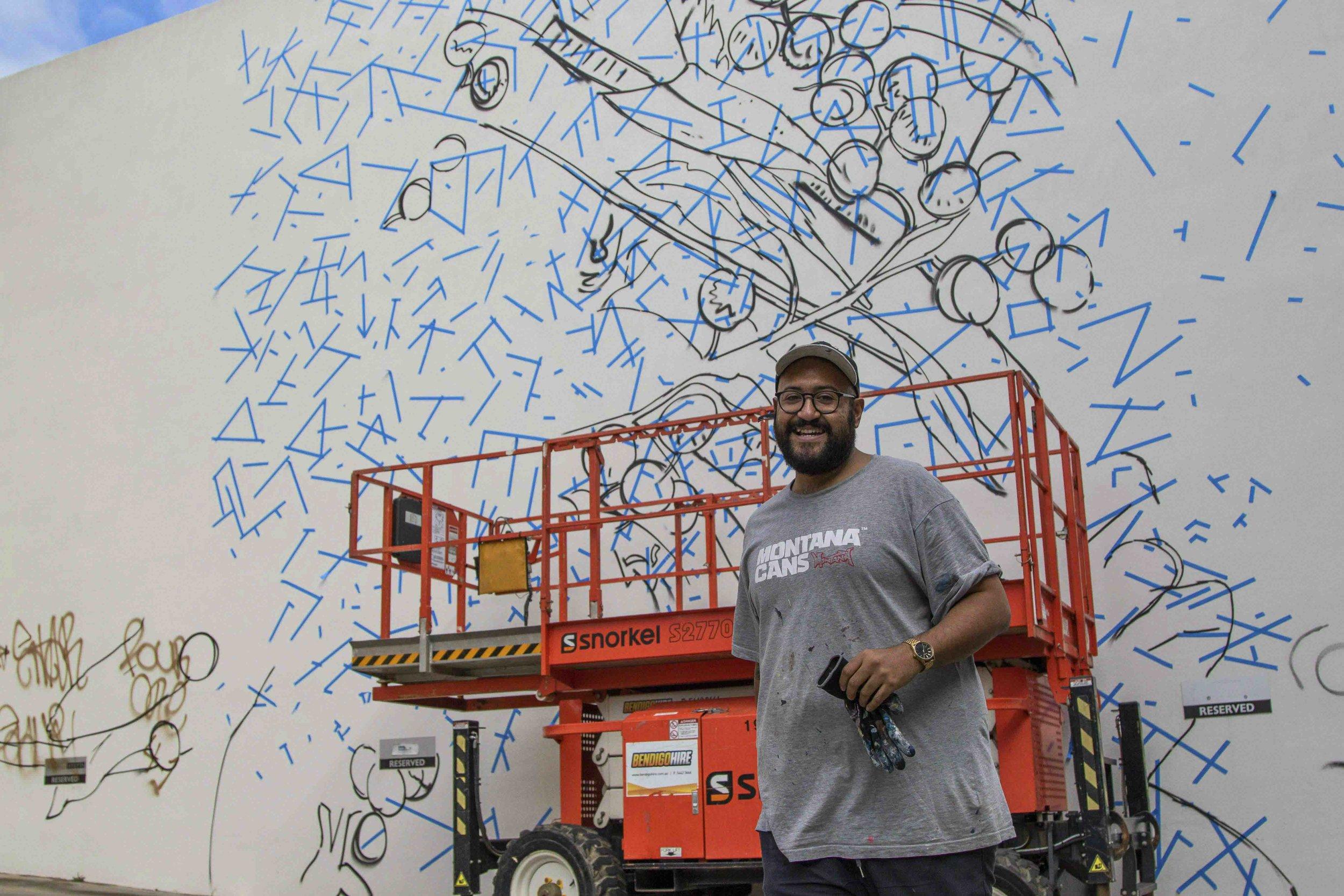 Jack Fran Paints Mural In Bendigo - Day 1-9.jpg