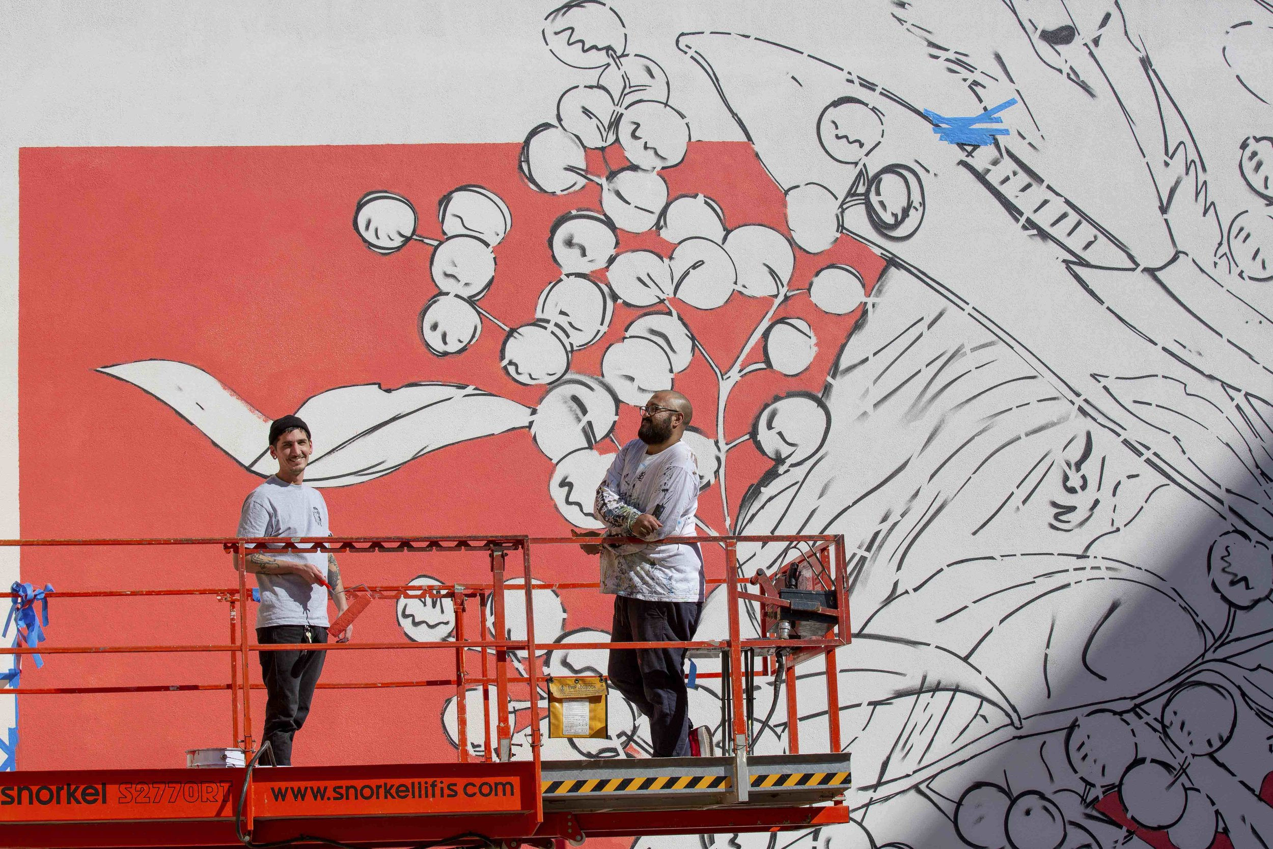 Jack Fran Paints Mural In Bendigo - Day 2-9.jpg