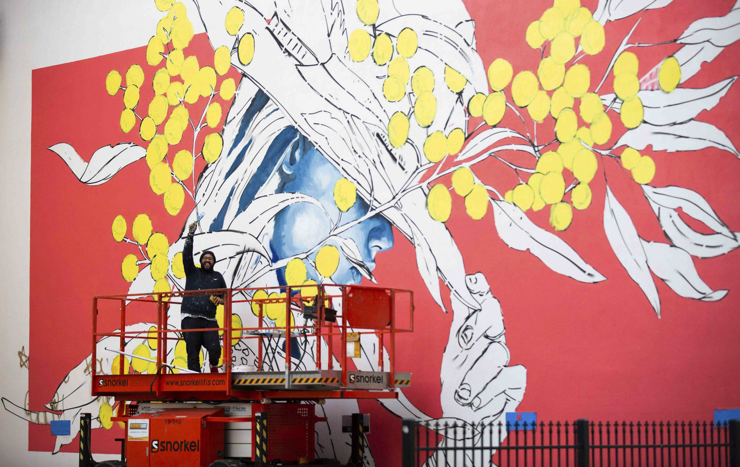 Jack Fran Paints Mural In Bendigo - Day 2-14.jpg