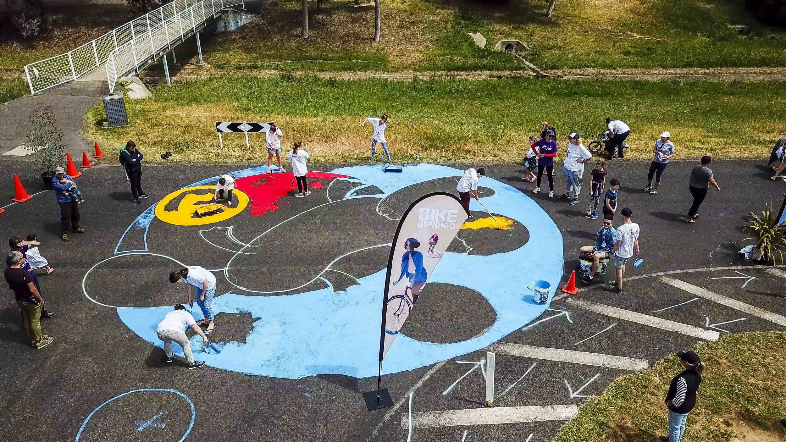 Bendigo Street art - Road Intersection Mural - Community painting_14.jpg