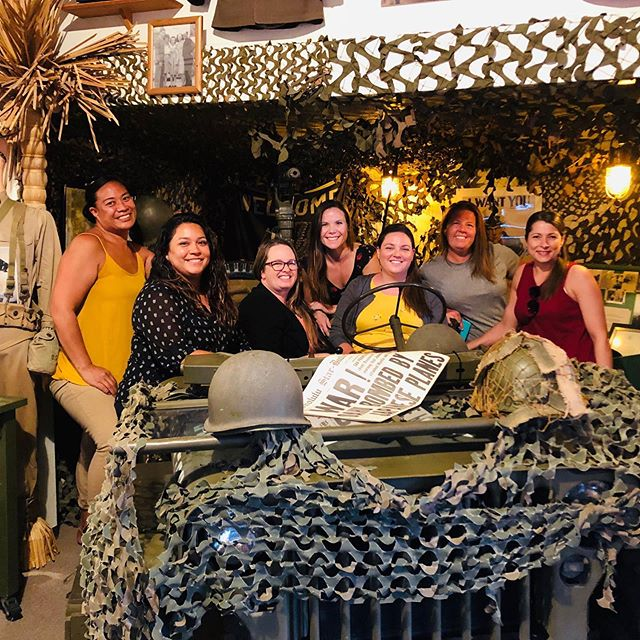 Friday Night Fun @ the Home of the Brave. Army wives - 3-4 Cav, 3 IBCT, 25th ID enjoyed a girls night out @ the Wiki Waki Woo. Join us tonight in the Brewseum & Wiki Waki Woo starting @ 5pm. Guadalajara Tacos will be serving up delicious Mexican Food!  #brewseum #wikiwakiwoo #homeofthebrave #rememberhonorsalute #guadalaharatacos