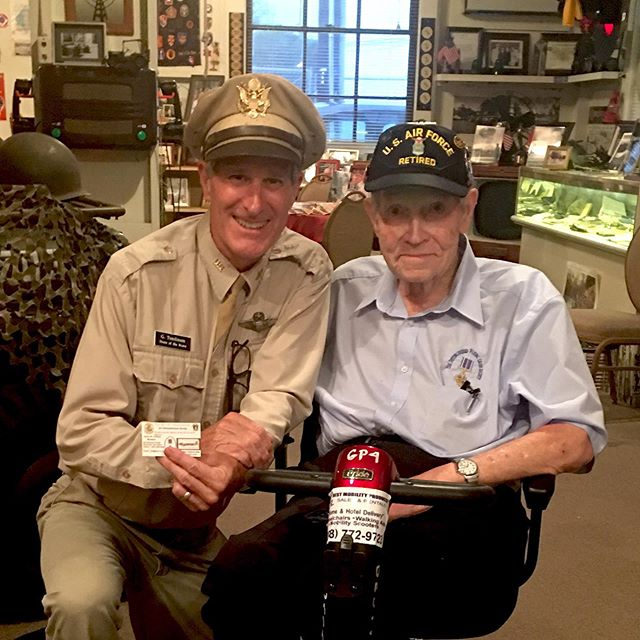 """Home of the Brave - where History lives & Heroes are hailed! James M. Coffman - 89 years young flew 106 missions over Vietnam- """"Low & Slow"""" in the EC-47's.  EC-47 ARDF Mission, Southeast Asia, 1966-74  Doors open tonight @ 5:00pm #homeofthebrave #brewseum #rememberhonorsalute #wikiwakiwoo #ec47"""