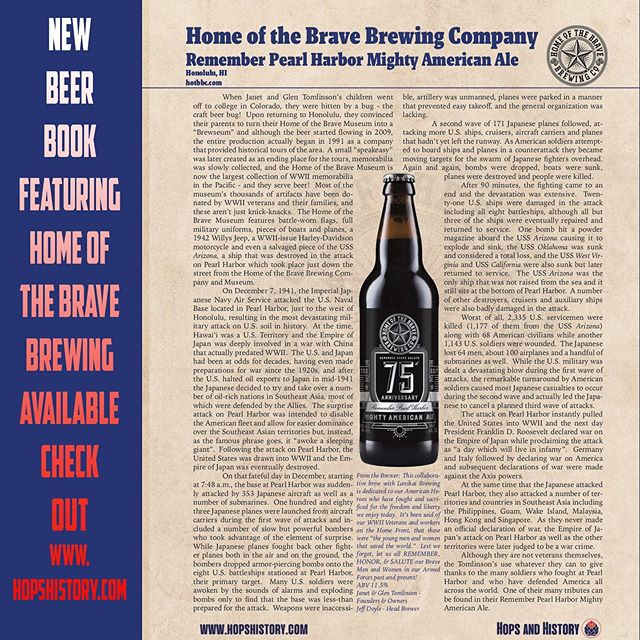 It's Tailhook Tuesday in the Brewseum Tonight. Doors open @ 5pm. Check out this new book available through the website hopshistory.com Jim Dent did an awesome job of highlighting American breweries across the country that have a passion for American History!  #brewseum #homeofthebrave #homeofthebravebrewing #wikiwakiwoo #hopshistory #homeofthebravemuseum #tailhooktuesday