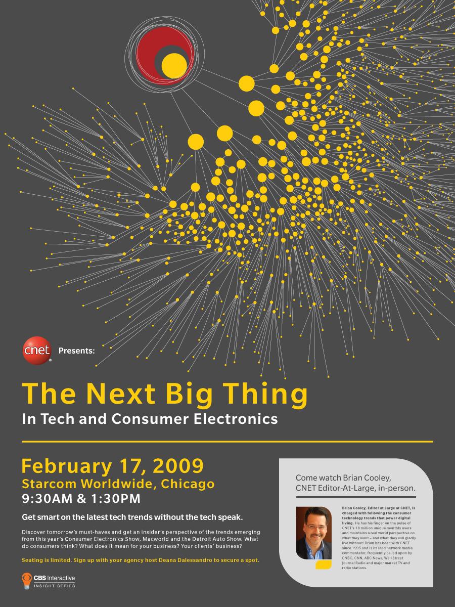 CNET Event Poster Design